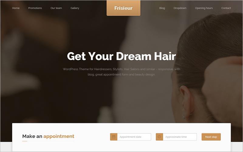 WordPress Theme for Hair Salons