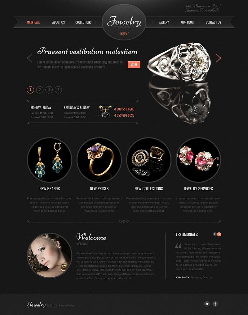 Wordpress Jewelry Theme Ecommerce