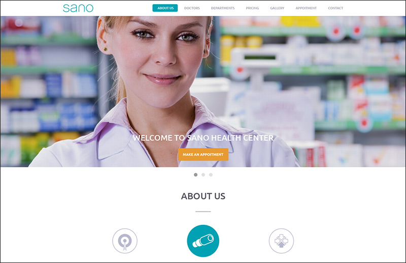 Wordpress One Page Medical Theme