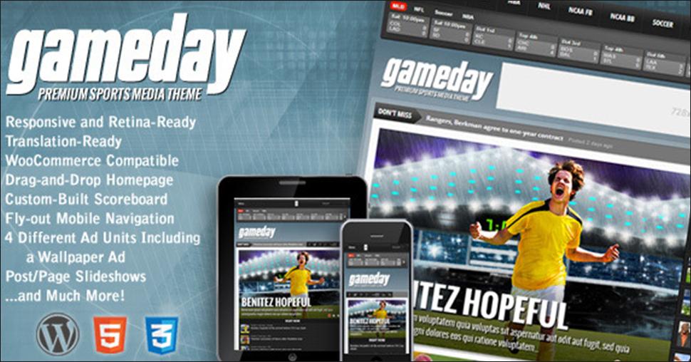 Wordpress Sports Media Theme