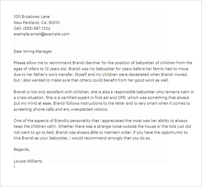 Worker Reference Letter Template