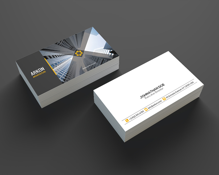 20 construction company business cards free templates architecture business card reheart Gallery