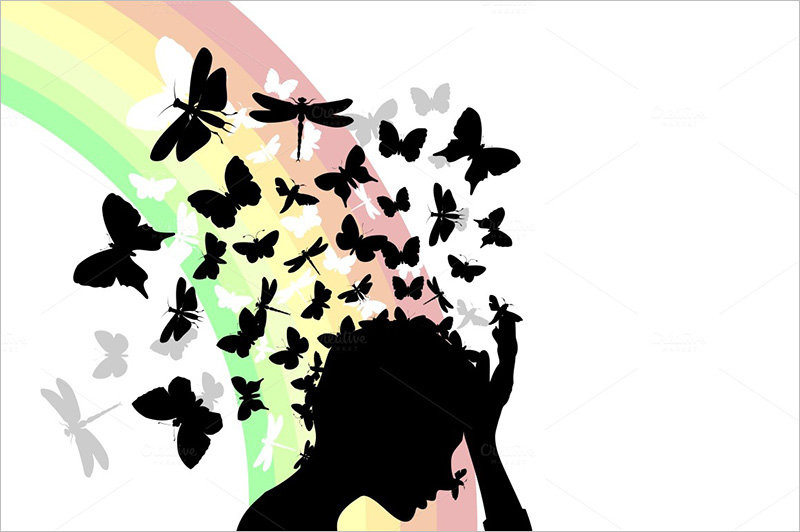 cartoon butterflies illustration