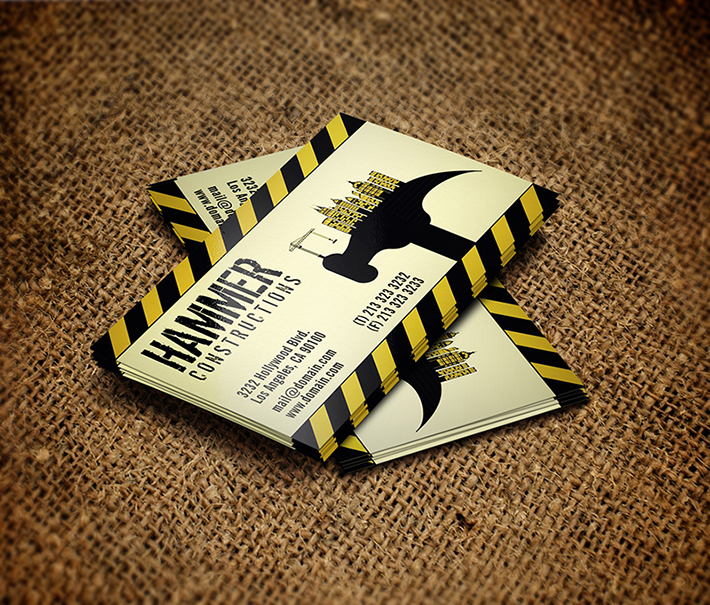 construction business card free templates