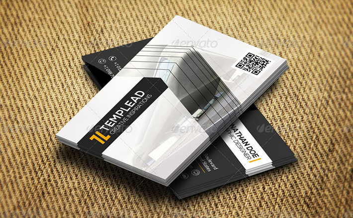 construction company business card design