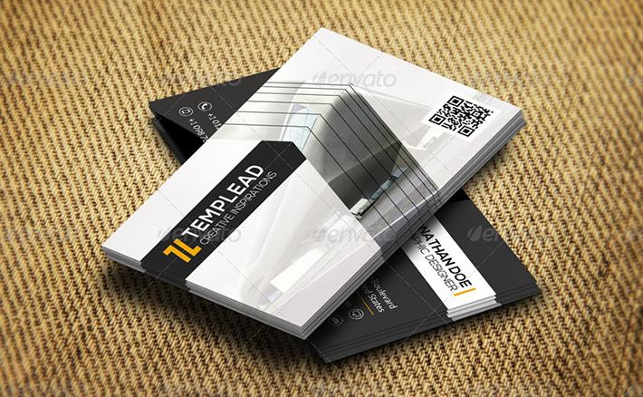 construction company business card design