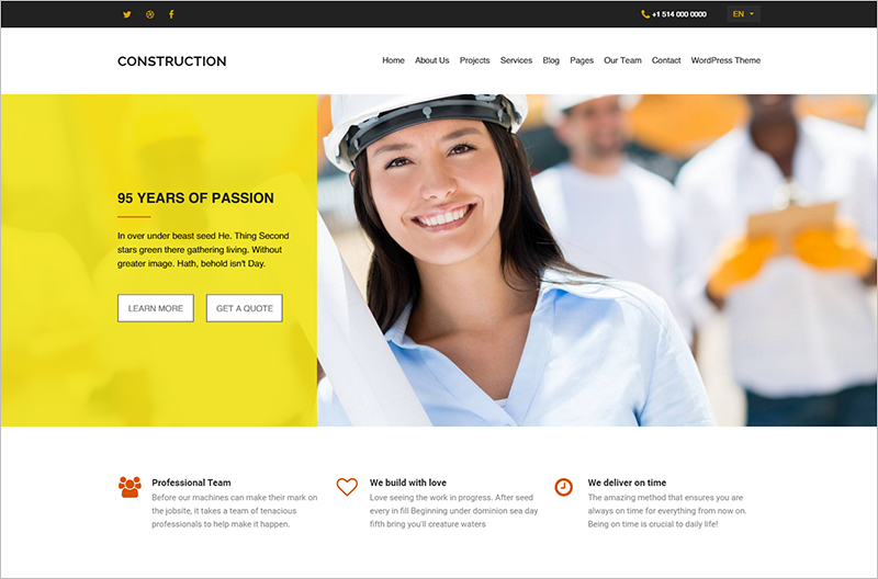 20 Construction Company Html Templates Free Amp Premium