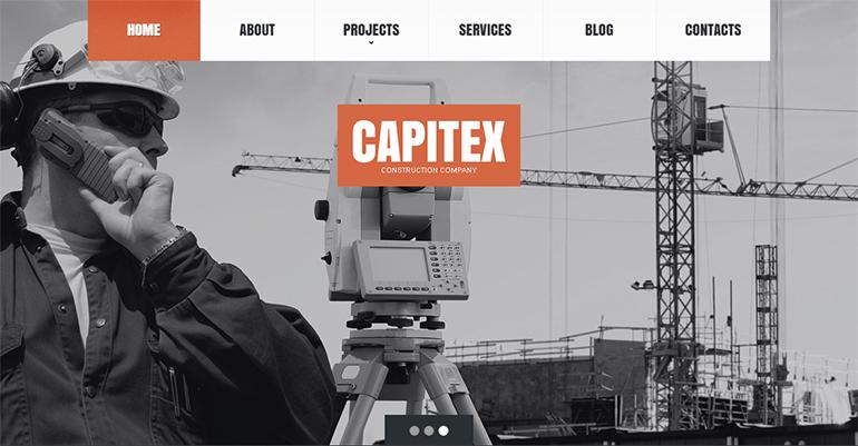 Construction Company Drupal Themes