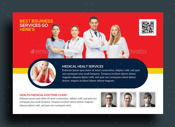 doctor post card template
