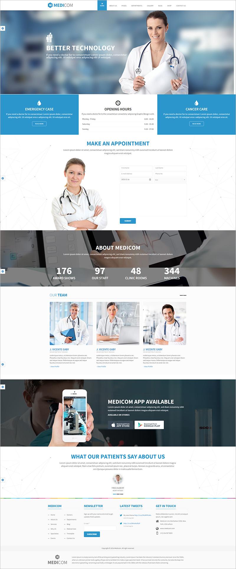 drupal health theme