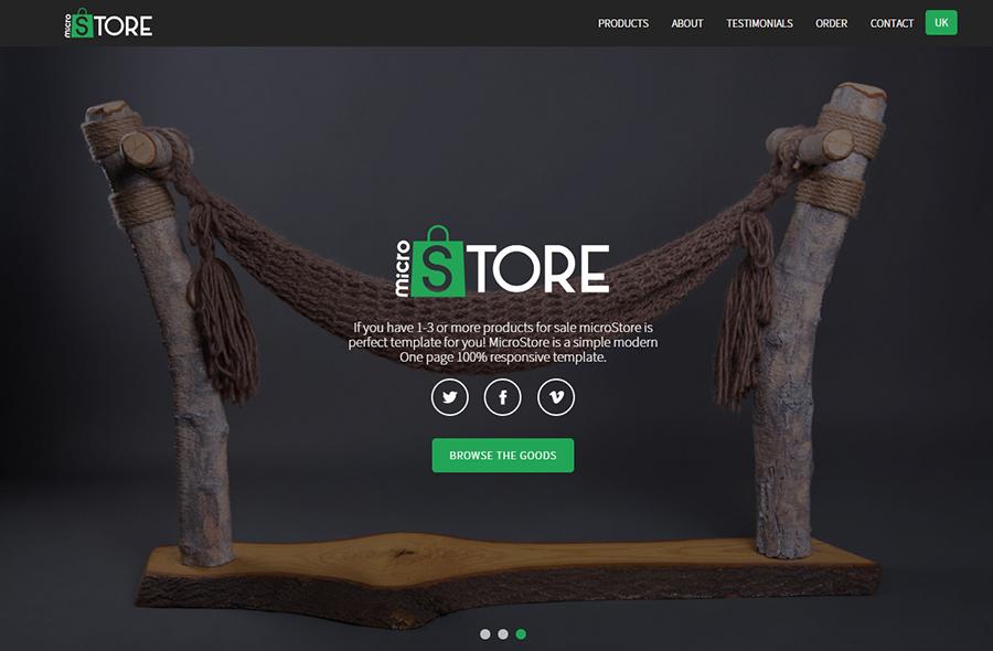 eCommerce Landing Page Theme