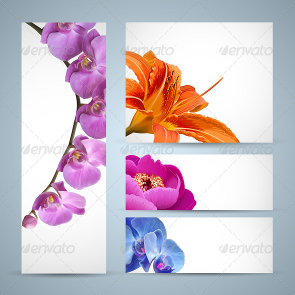 flowers template psd