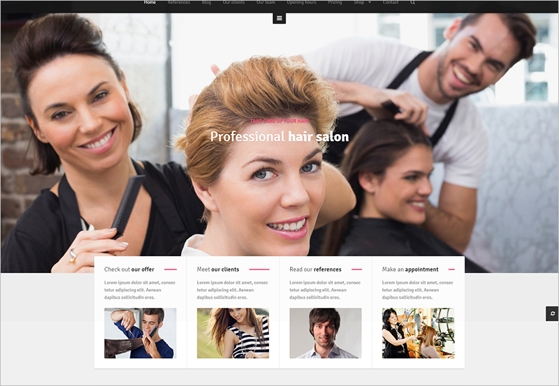 hairdresser wordpress template