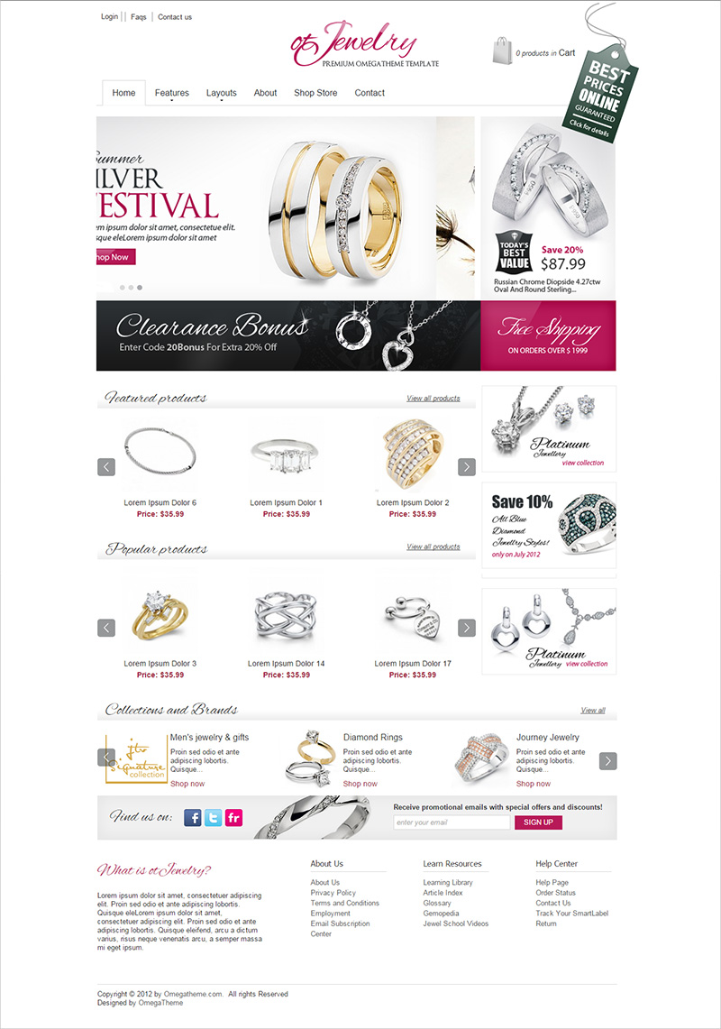 joomla jewelry template free download