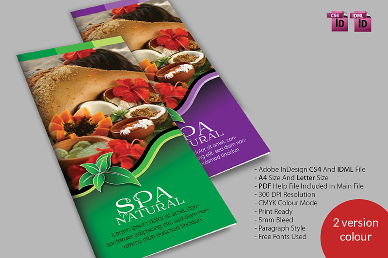 natural body spa brochure