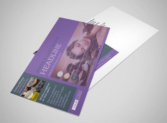 spa brochure template free