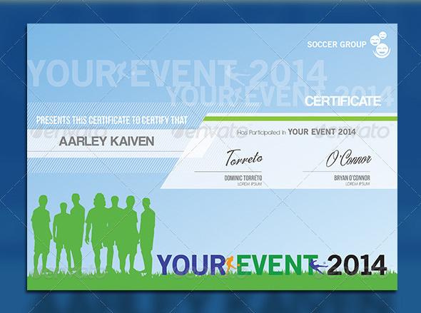 sport certificate design