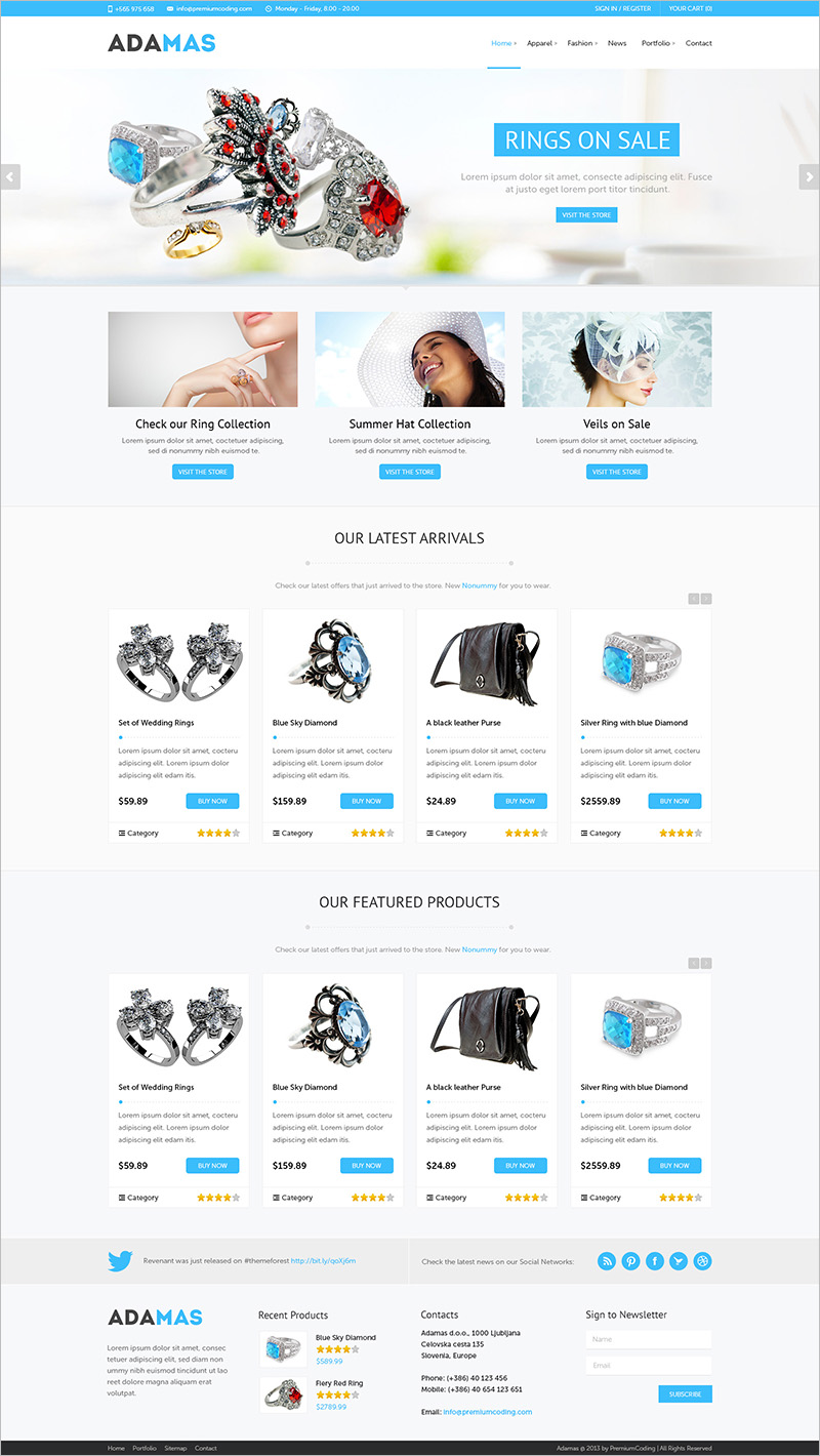 wordpress jewelry shop theme