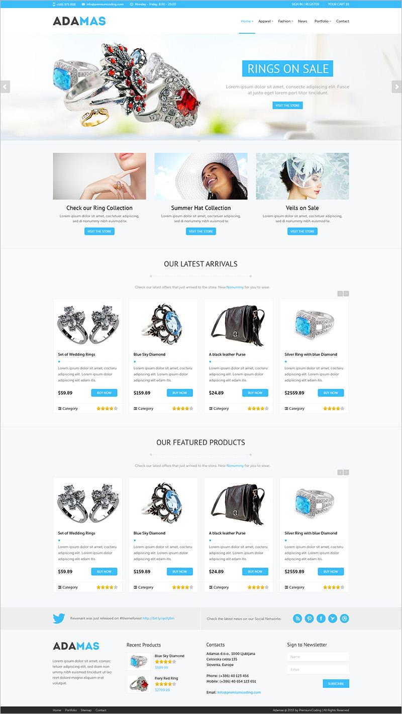 Jewelry WordPress Themes & Templates | Free & Premium | Creative ...