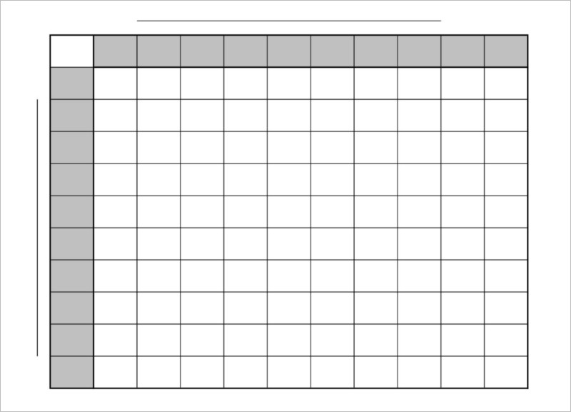 33 Printable Football Square Templates Free Excel Word Formats