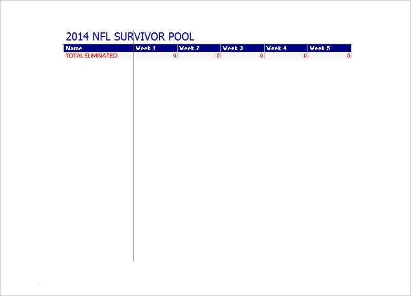 2014 Football Survivor Pool Download