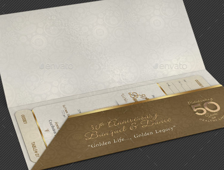 Anniversary Banquet Ticket & Jacket Template