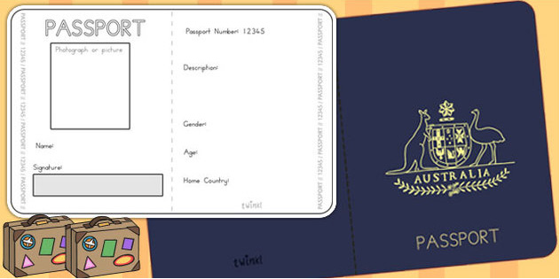 Passport templates free download creative designs for Passport photo print template