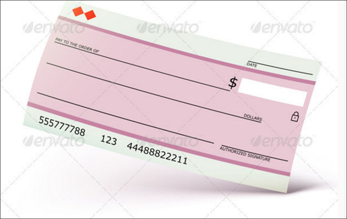 Bank Check Template Example