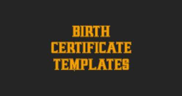Birth Certificate Templates