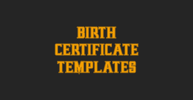 Birth Certificate Templates