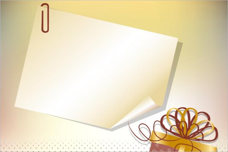 Blank Christmas Thank You Card Sample