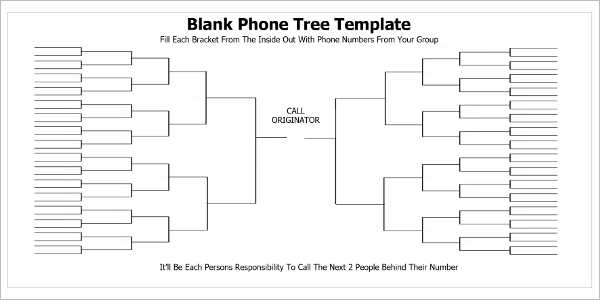 Phone Tree Template Word Excel  Free  Premium Templates