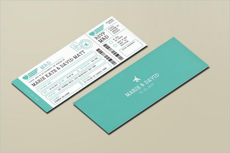 Boarding Pass Invitation Card