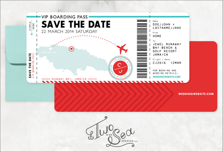 Boarding Pass Invitation Templates - Free Psd Format Download