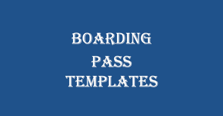 Boarding Pass Invitation Templates