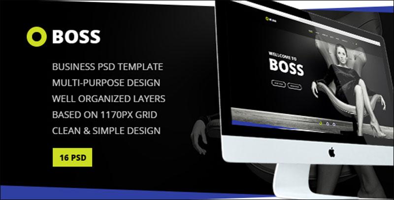 Boss — Multi-Purpose Business PSD Template