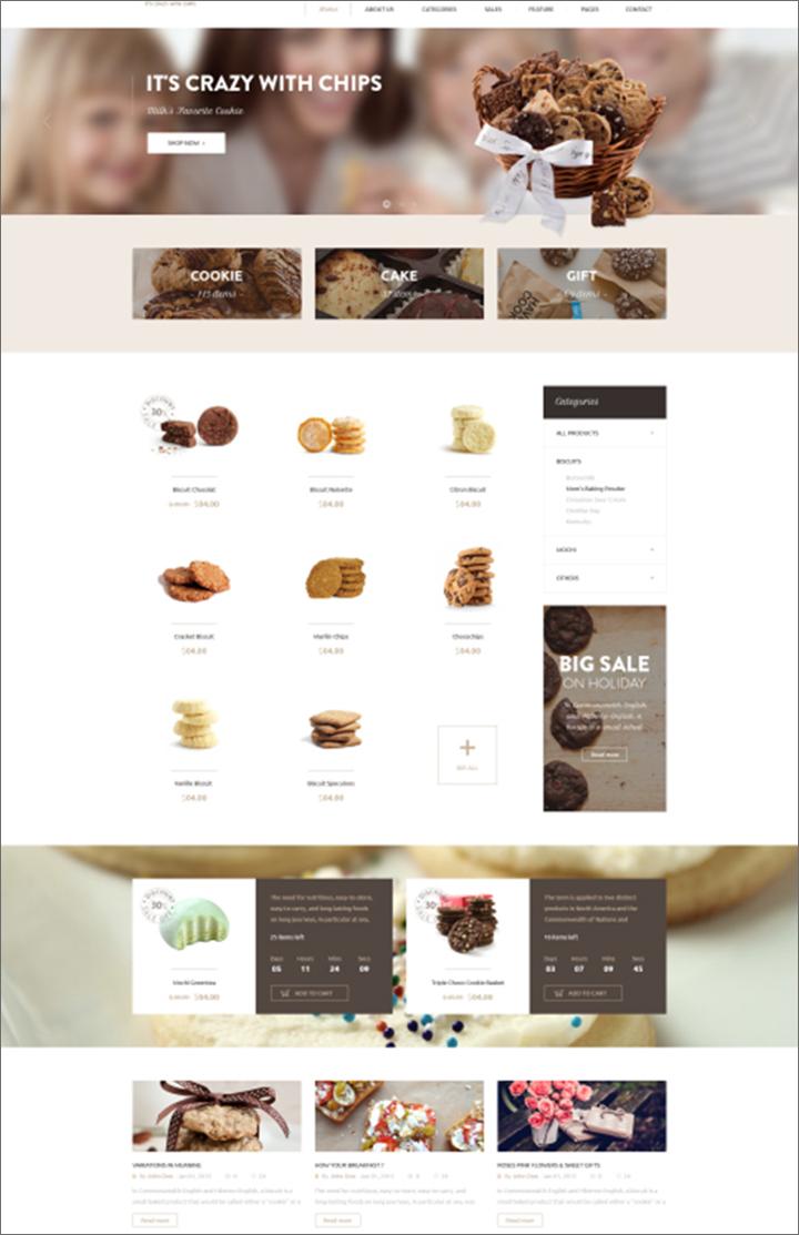 Café & Restaurant Magento Theme