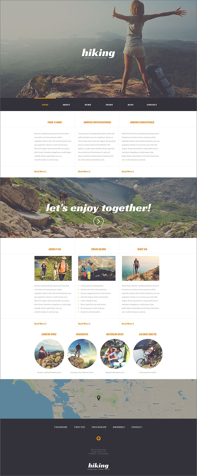 Camping Responsive WordPress PHP Theme