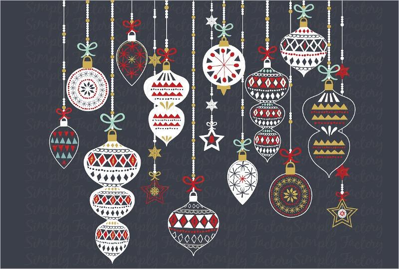 Chalkboard Christmas Ornament Design