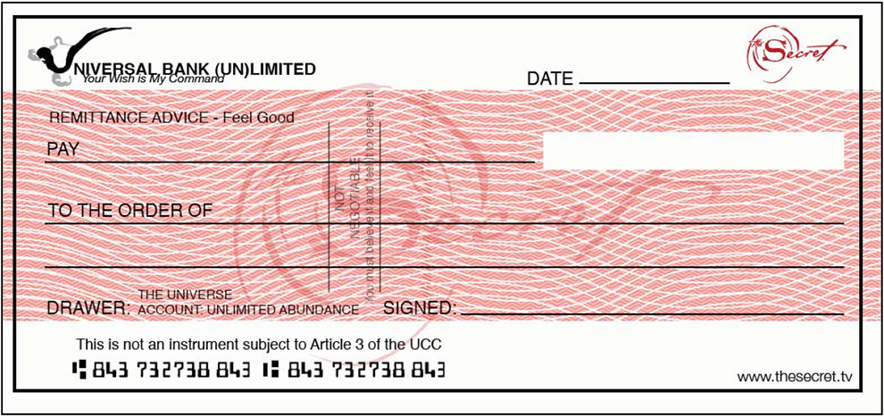 Cheque Example Template
