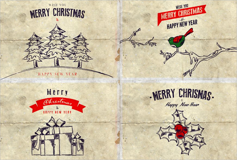 Christmas Background Card Design