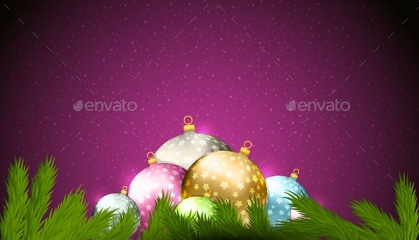 Christmas Background Vector Template