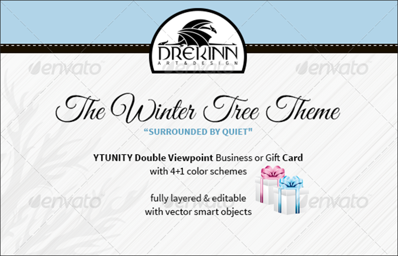 Christmas Business Card and Gift Card