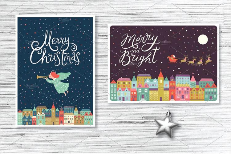 Christmas Card Thank You Card Design