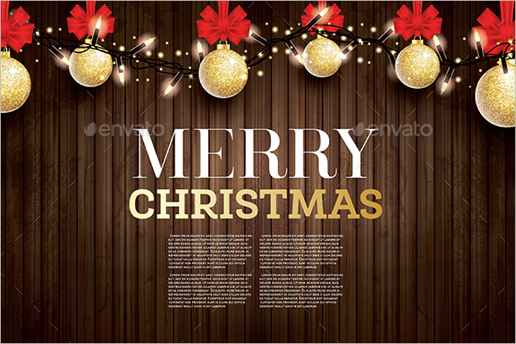 Christmas Card Thank You Note Template