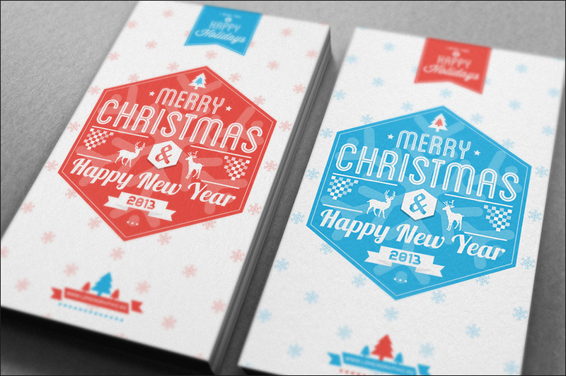 Free business christmas cards creativetemplate christmas card typography accmission Images