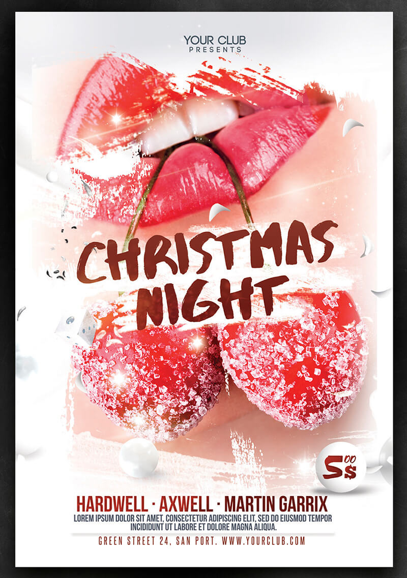 Christmas Club Party Flyer