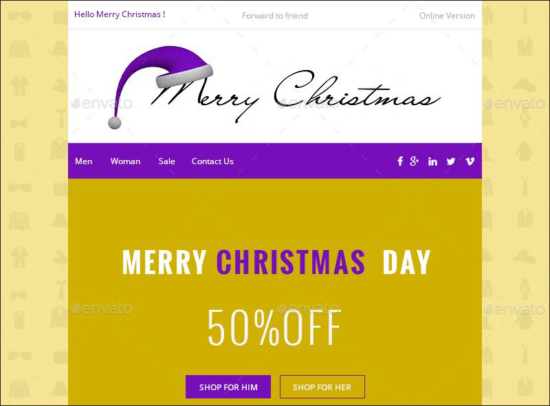Christmas E-commerce Newsletter
