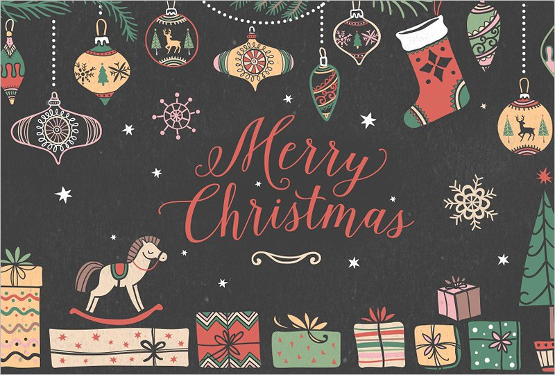 Christmas Elements Background Design