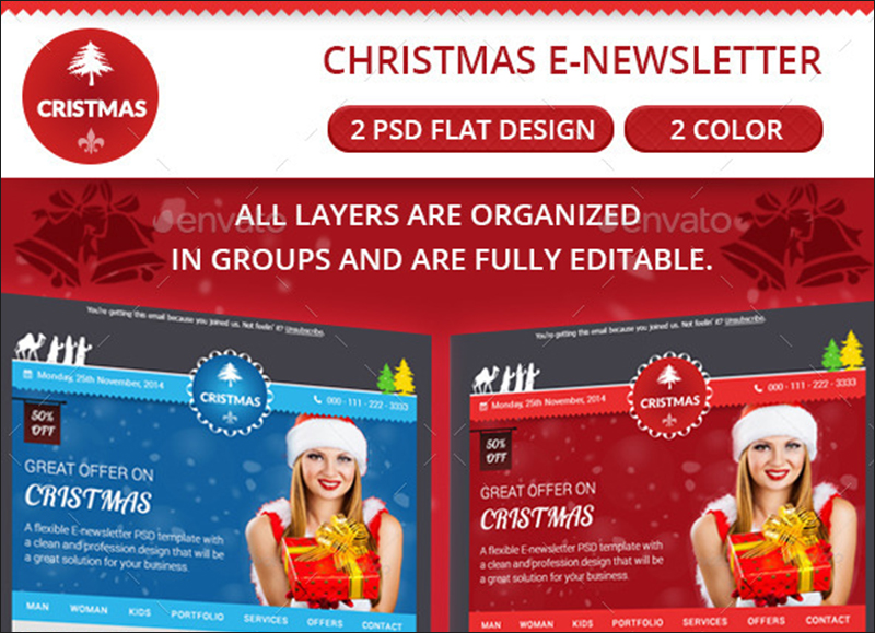 Christmas Email Newsletter